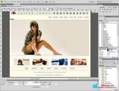 Screenshot Adobe Dreamweaver für Windows 8.1