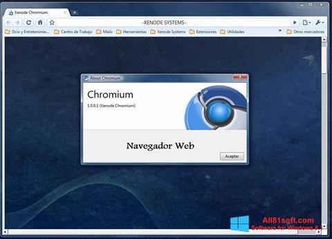 Screenshot Chromium für Windows 8.1