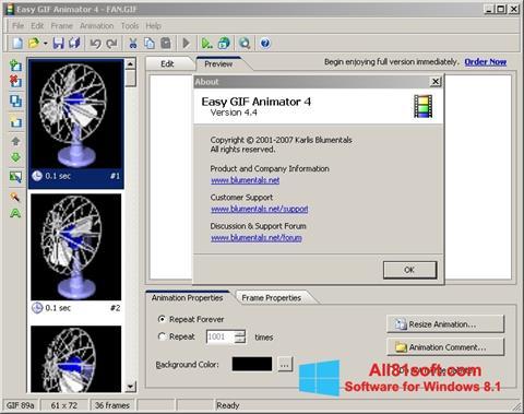 Screenshot Easy GIF Animator für Windows 8.1