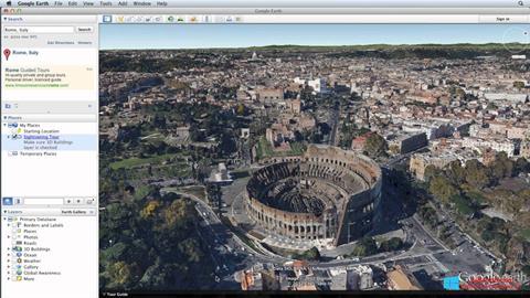 Screenshot Google Earth für Windows 8.1