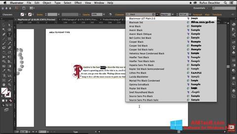 Screenshot Adobe Illustrator für Windows 8.1