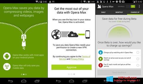 Screenshot Opera Max für Windows 8.1