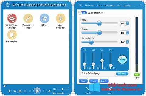 Screenshot AV Voice Changer Diamond für Windows 8.1