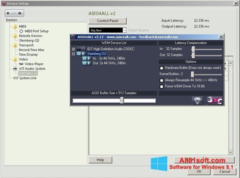 Screenshot ASIO4ALL für Windows 8.1