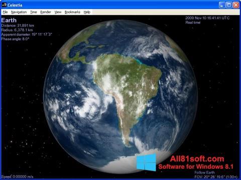 Screenshot Celestia für Windows 8.1