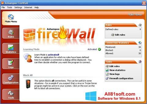 Screenshot Ashampoo Firewall für Windows 8.1