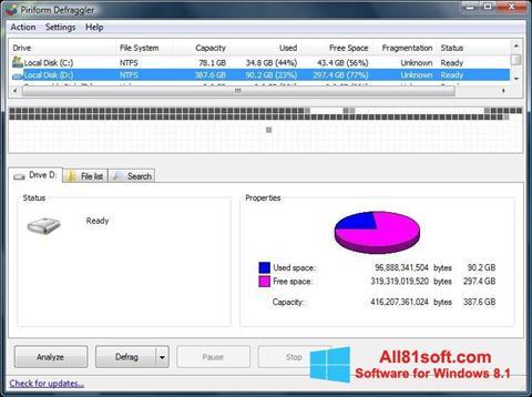 Screenshot Defraggler für Windows 8.1