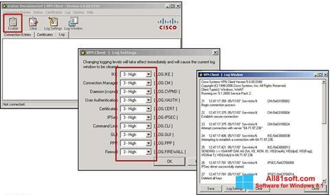 Screenshot Cisco VPN Client für Windows 8.1