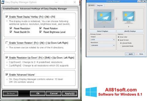 Screenshot Easy Display Manager für Windows 8.1