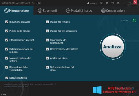 Screenshot Advanced SystemCare Pro für Windows 8.1