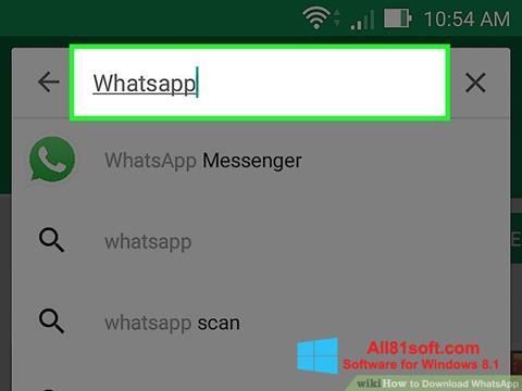Screenshot WhatsApp für Windows 8.1