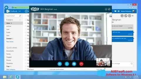 Screenshot Skype für Windows 8.1