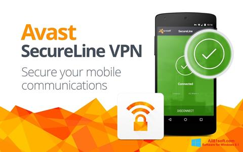 Screenshot Avast SecureLine VPN für Windows 8.1