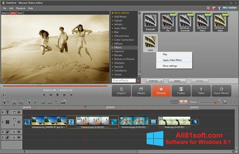 Screenshot Movavi Video Editor für Windows 8.1